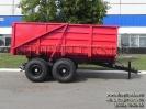 Конструктивно самосвальный тракторный прицеп ПКЗТ-10 является аналогом прицепа ПТС-4, но с более усиленной рамой и кузовом, а также значительно большей вместимостью и грузоподъемностью._6